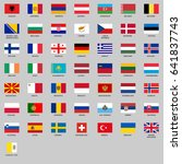 set of all europe flags. vector ...
