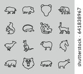 mammal icons set. set of 16... | Shutterstock .eps vector #641838967