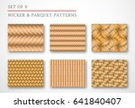 a set of 6 wicker and parquet... | Shutterstock .eps vector #641840407
