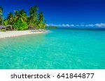 tropical island in fiji  palm... | Shutterstock . vector #641844877