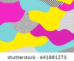creative geometric colorful... | Shutterstock .eps vector #641881273