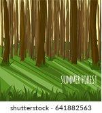 summer forest. sunny day.... | Shutterstock .eps vector #641882563