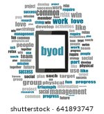 byod word. management concept . ... | Shutterstock . vector #641893747