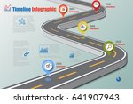 design template  road map... | Shutterstock .eps vector #641907943