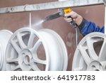 process of powder coating auto... | Shutterstock . vector #641917783