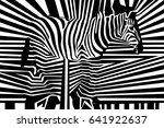 seamless black and white... | Shutterstock .eps vector #641922637