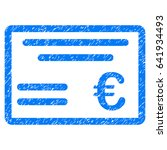 Grunge Euro Cheque Icon With...