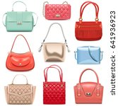 vector fashion handbags | Shutterstock .eps vector #641936923