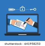 digital signature concept.    Shutterstock . vector #641958253