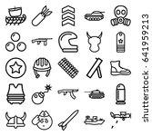 set of 25 military outline... | Shutterstock .eps vector #641959213