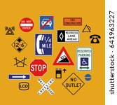 various signs vector