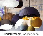 modern lamps close up  like egg ... | Shutterstock . vector #641970973