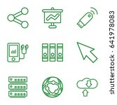 data icons set. set of 9 data... | Shutterstock .eps vector #641978083