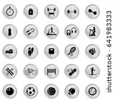 set of sport icon  button and... | Shutterstock .eps vector #641983333