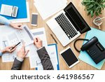 business team working at office ... | Shutterstock . vector #641986567