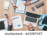 business people working... | Shutterstock . vector #641987437