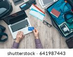 traveler getting ready for a... | Shutterstock . vector #641987443
