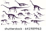 set  silhouettes  dino... | Shutterstock .eps vector #641989963