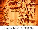 hindu deities background.... | Shutterstock . vector #642002683