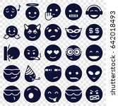 emoji icons set. set of 25... | Shutterstock .eps vector #642018493