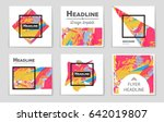 abstract vector layout... | Shutterstock .eps vector #642019807