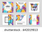abstract vector layout... | Shutterstock .eps vector #642019813