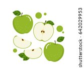 green apple vector | Shutterstock .eps vector #642029953