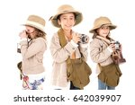 group of kids having fun with... | Shutterstock . vector #642039907