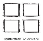 set of grunge frames.distress... | Shutterstock .eps vector #642040573