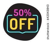 50  off. flat vector badge... | Shutterstock .eps vector #642043843