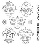 flourish frames and labels two | Shutterstock .eps vector #642046717