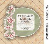 vintage label  | Shutterstock .eps vector #642048757
