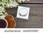 the jewelery gift box. pandora ... | Shutterstock . vector #642053587