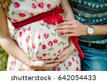 waiting baby. pregnant woman... | Shutterstock . vector #642054433