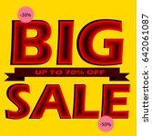 big sale banner vector... | Shutterstock .eps vector #642061087