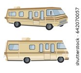 3d view rv camper   Shutterstock .eps vector #642070057