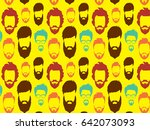 bearded hipster pattern with... | Shutterstock .eps vector #642073093