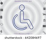 disabled icon  vector... | Shutterstock .eps vector #642084697