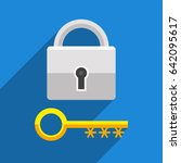 lock as symbol password... | Shutterstock .eps vector #642095617