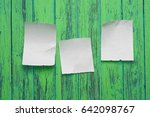 scraps placed on the green... | Shutterstock . vector #642098767