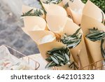 eucalyptus petals confetti in... | Shutterstock . vector #642101323