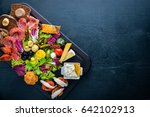 a large set of italian cuisine. ... | Shutterstock . vector #642102913