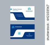 business card design trendy... | Shutterstock .eps vector #642103567