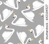 seamless pattern with white... | Shutterstock .eps vector #642104527