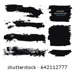 large grunge elements set.... | Shutterstock .eps vector #642112777