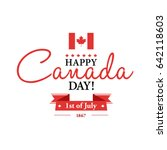 happy 1th of july canada day... | Shutterstock .eps vector #642118603