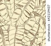 floral seamless pattern.... | Shutterstock . vector #642119437