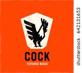 Retro Rooster Logo Badge....
