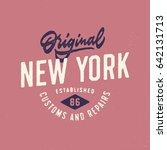 original new york customs and... | Shutterstock .eps vector #642131713