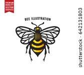 honey bee colorful vector... | Shutterstock .eps vector #642131803